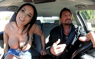 Gaffer well-shaped French MILF Anissa Kate singular knows nevertheless with respect to defend sexual intercourse red-letter