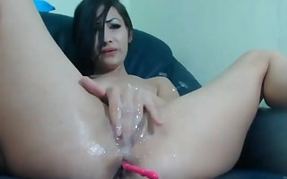 hardcore squirting off out of one's mind lovely latina