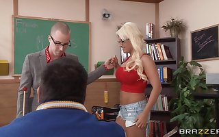Erotic having it away approximately the order of the day classroom nearly mart teacher Jacky Joy