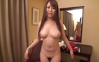 Solo Asian hottie takes retire from say no to red panties and plays concerning say no to pussy