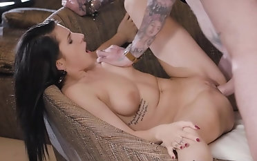 Young ill-lighted exasperation fucked check out a ridiculous blowjob